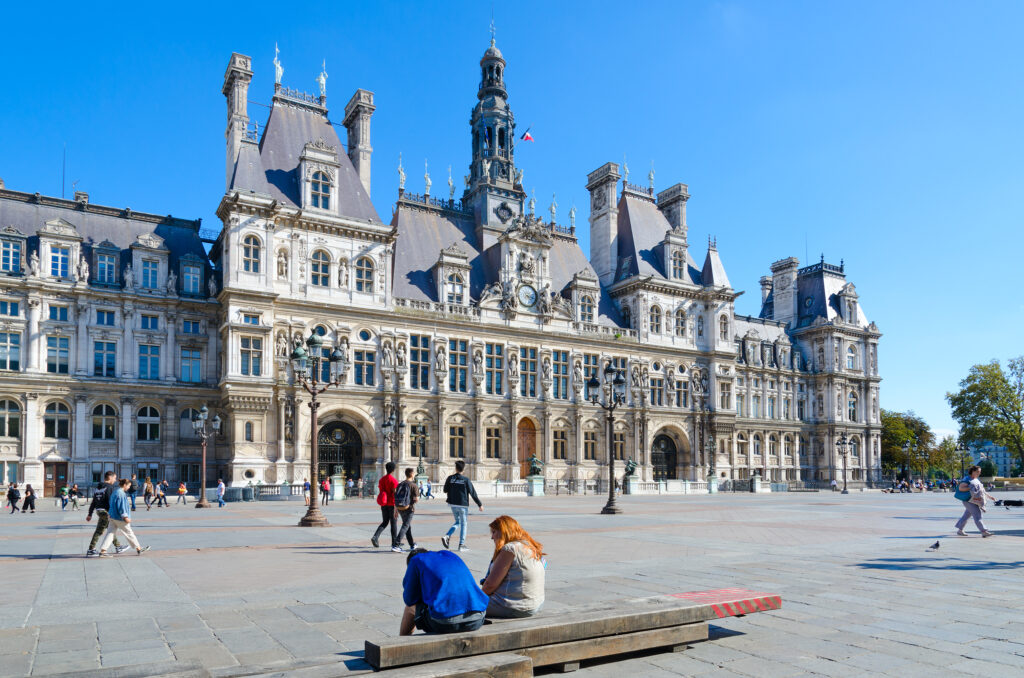 City Hall Hotel De Ville On Eponymous Square Hotel De Ville (former Medieval Grevskaya Square), Paris, France